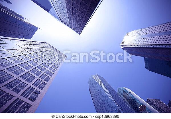 Busca edificios urbanos modernos en Shanghai - csp13963390