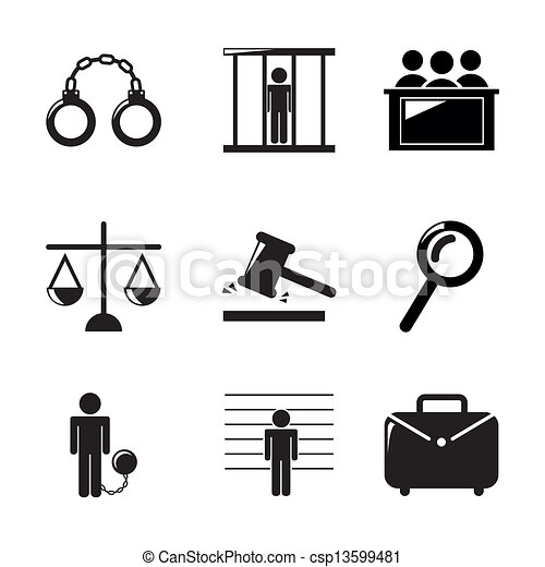 iconos de la cárcel - csp13599481