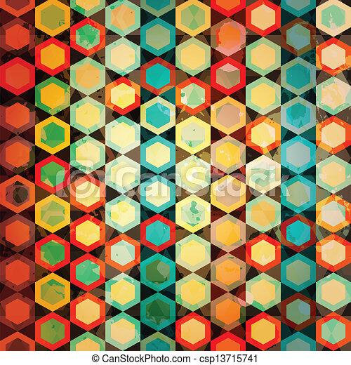 Células Multicolor sin marcas - csp13715741