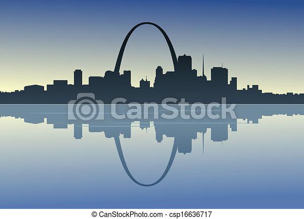 Saint Louis en el centro del río - csp16636717