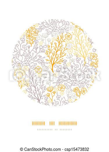 Círculo floral mágico decorativos - csp15473832