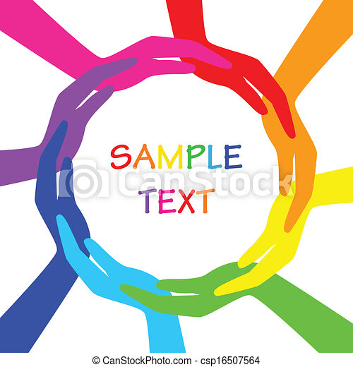 Círculo vector de manos coloridas - csp16507564