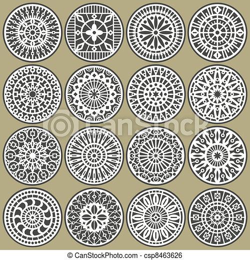 Círculos orgánicos decorados - csp8463626