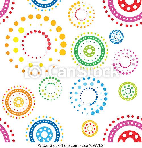 Patrón de círculos sin sentido - csp7697762