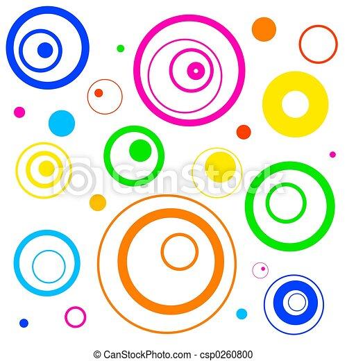 Círculos retro - csp0260800