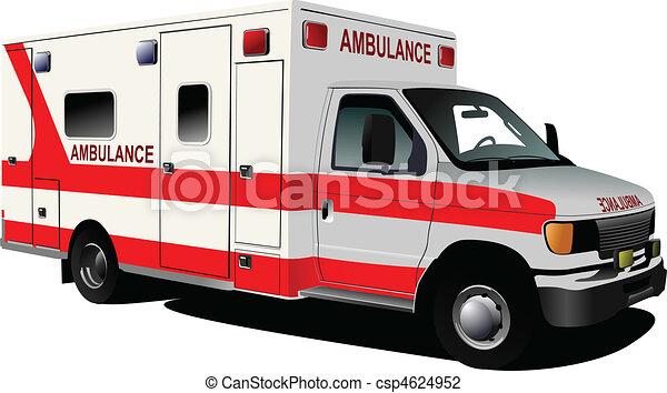 Una camioneta de ambulancias sobre blanco. C - csp4624952