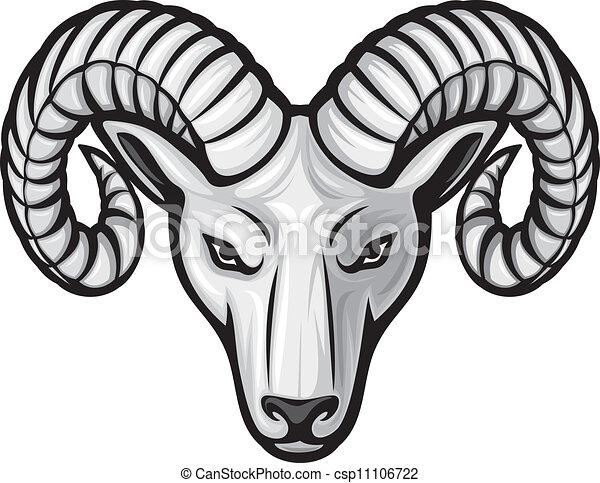 Cabeza del carnero (cabeza del ariete) - csp11106722