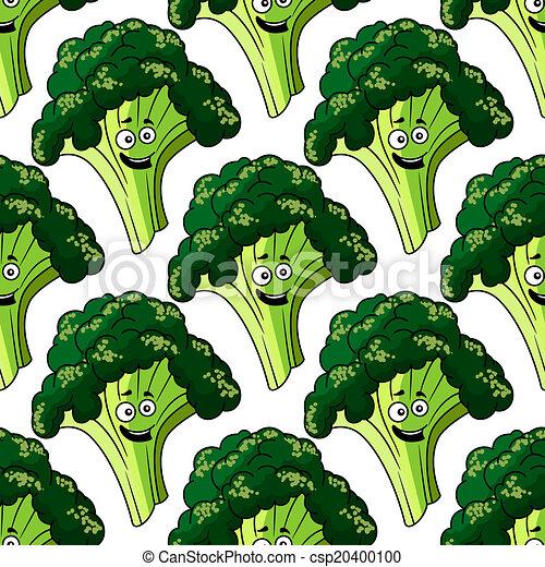 Cabeza de brocoli sano fresco sin costura - csp20400100