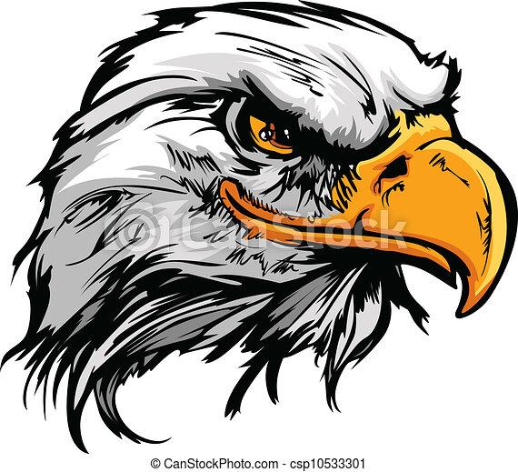 Cabeza grafica de un águila calva, ilustración de vector vector - csp10533301