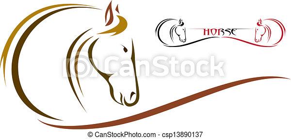 Cabeza de caballo - csp13890137
