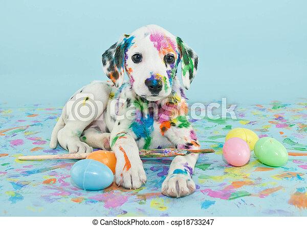 Cachorrito de Pascua - csp18733247