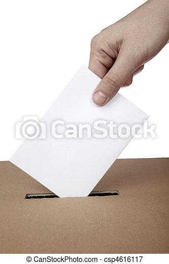 El voto de los votos de los votos de los votos de los partidos políticos es una elección - csp4616117