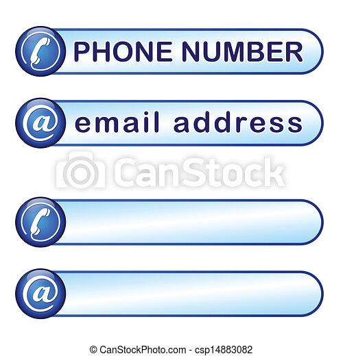 Caja por teléfono y dirección de correo - csp14883082