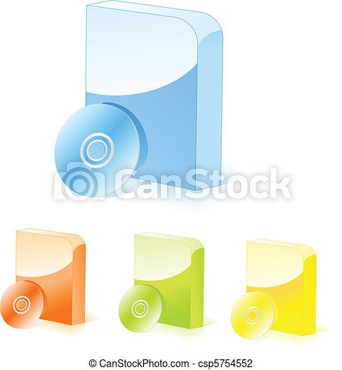 Cajas de software multicolores con CD - csp5754552