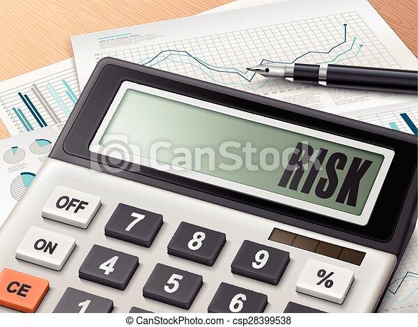 Calculador con la palabra riesgo - csp28399538