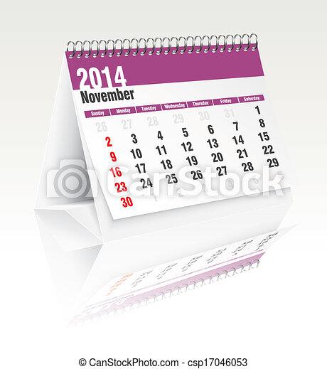 Calendario de escritorio de noviembre 2014 - csp17046053