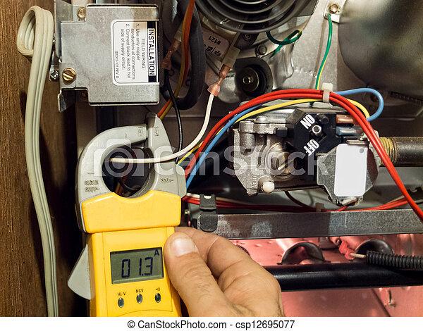 Calentamiento y reparación de muebles - csp12695077