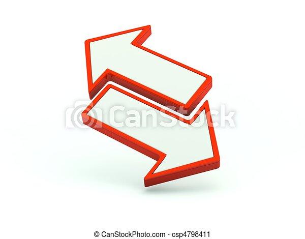 Cambio de icono. Serie roja - csp4798411