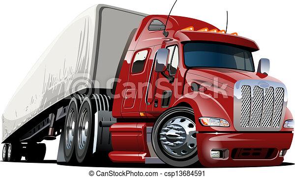 Cartoon semi camión - csp13684591