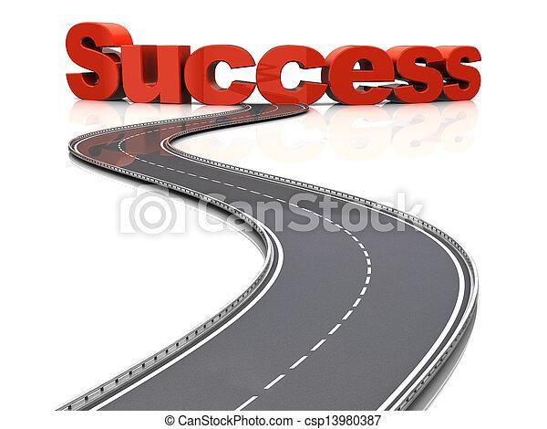 Camino al éxito - csp13980387