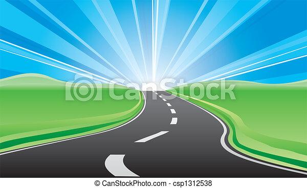 Camino al amanecer - csp1312538