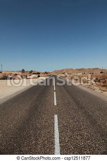 Camino del desierto - csp12511877