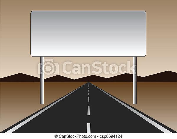 Camino vacío - cartelera vacía - csp8694124