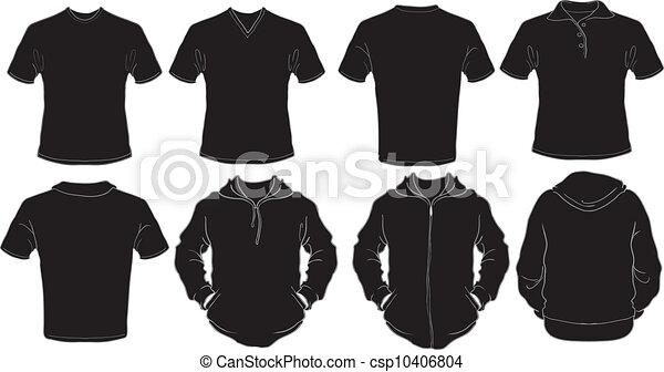 Camisas masculinas negras se templan - csp10406804