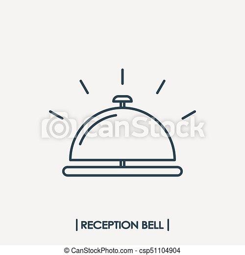 La campana de recepción esboza el icono - csp51104904