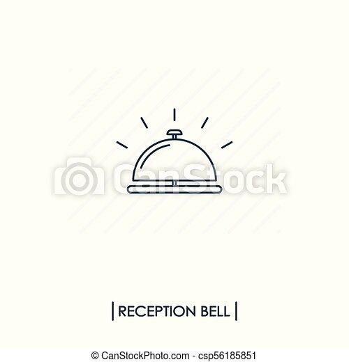 La campana de recepción esboza el icono - csp56185851