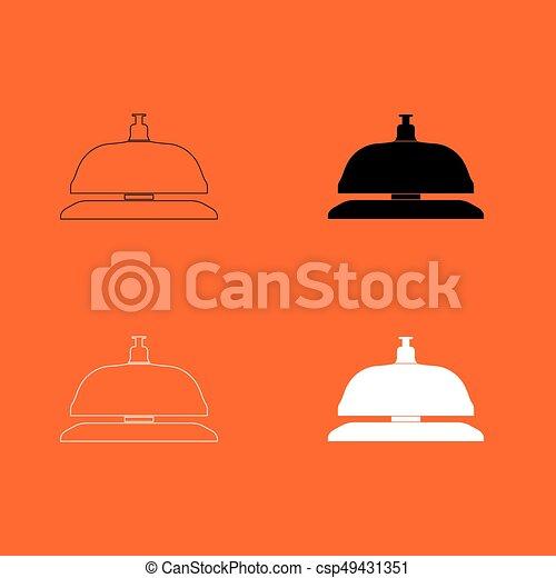 icono de la campana de recepción. - csp49431351