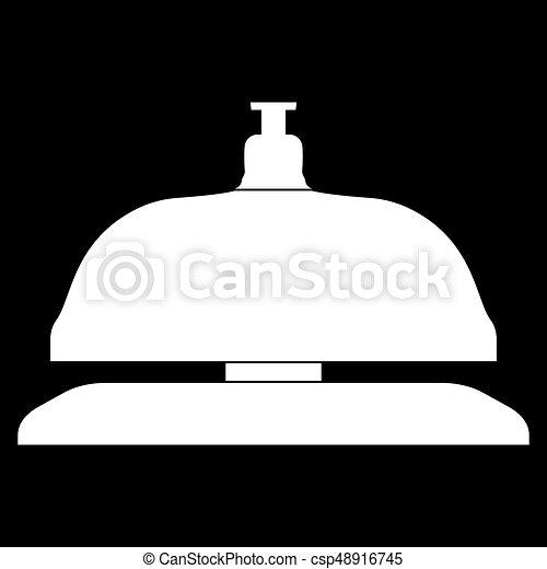icono de la campana de recepción. - csp48916745