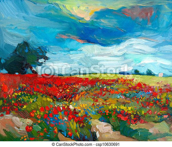 Campos de flores - csp10630691