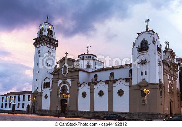 Iglesia Candelaria al amanecer - csp44192812