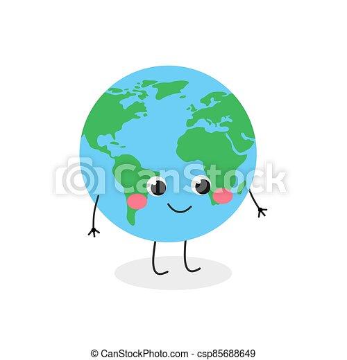 carácter, globo, vector, caricatura, ilustración, lindo, divertido - csp85688649