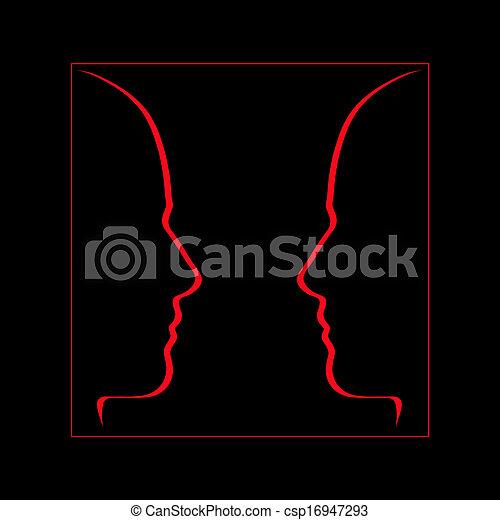 Cara a cara, comunicación, conversación - csp16947293