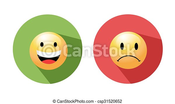 Smiley enfrenta iconos - csp31520652