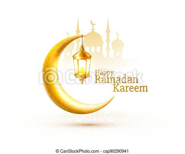 card., mezquita, noche, tarjeta, fondo., cubierta, saludo, vista, dibujado, arco, ramadan, vector, manuscrito - csp90290941