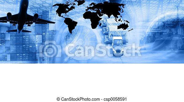 Freight templa-blu - csp0058591