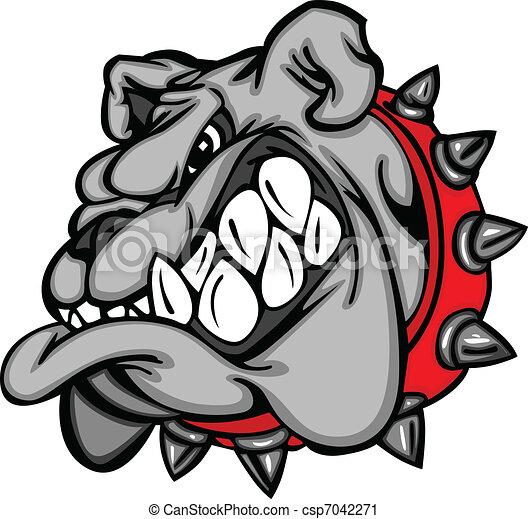 Cara de mascota de Bulldog - csp7042271