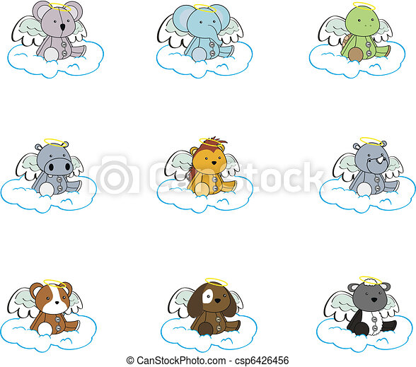 Dibujos animados de ángel animal - csp6426456