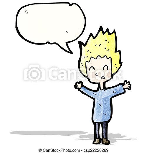 Caricatura de chico feliz - csp22226269