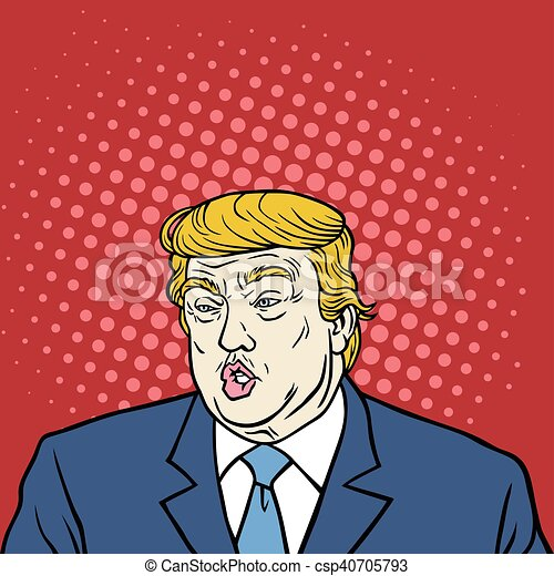 Donald triunfo de la caricatura de arte pop - csp40705793