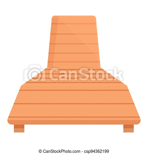 caricatura, icono, deckchair, vector., silla de la playa - csp94362199