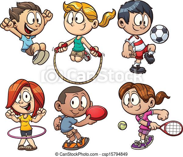 Los chicos del Cartoon juegan - csp15794849