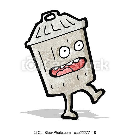 Un cubo de basura - csp22277118