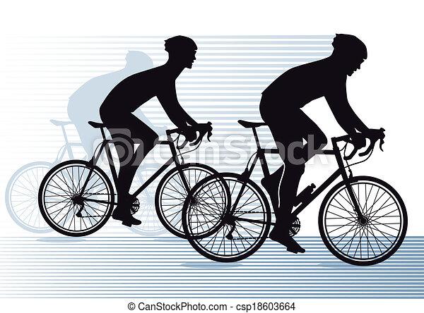 Carrera de bicicletas - csp18603664