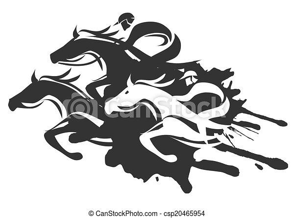 Carreras de caballos - csp20465954