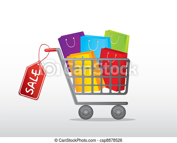 Carro de compras - csp8878526