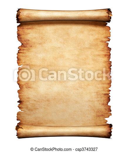 Antiguo fondo de letras de pergamino - csp3743327